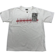 GUNZ NATIVE AMERICAN COLLAGE HENLEY NECK S/S TEE (半袖ヘンリーネック) -441G233-